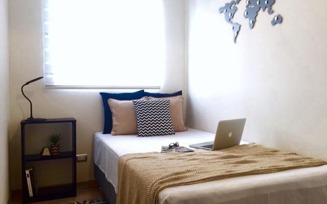 Pequeno quarto em apartamento compartilhado + academia