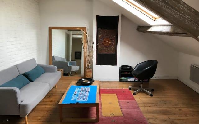 Chambre + studio dans une belle maison 1900