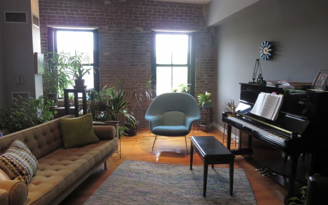 South End loft space with roof deck and parking space