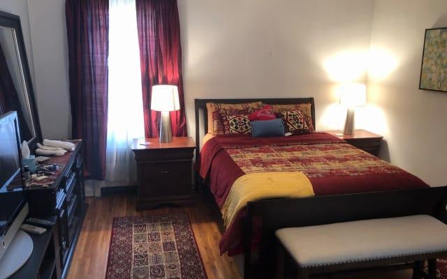 large sunny beautiful room