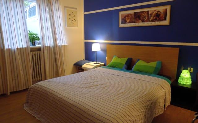Spacieuse chambre privée dans un appartement confortable pour le week...