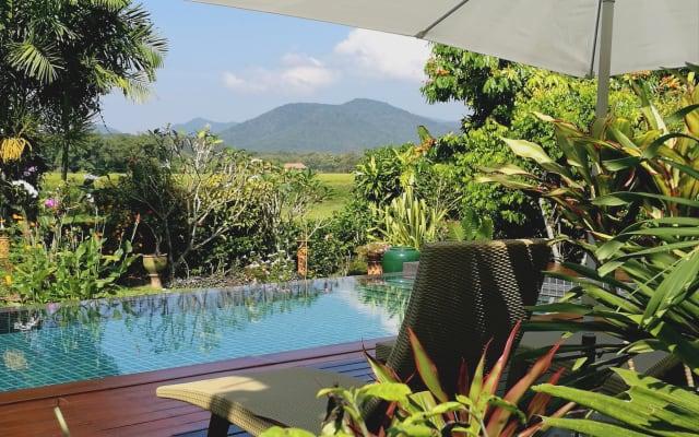 Villa con vista panoramica su montagne e risaie Chongko
