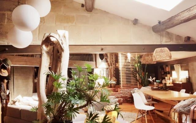 Maison en camargue avec vue dominante