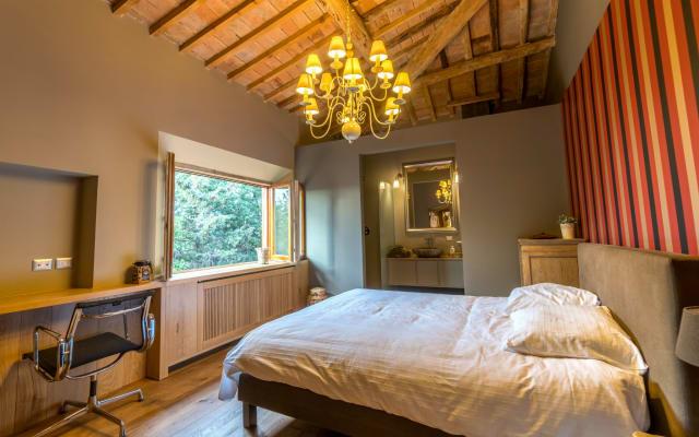 Bellissima camera in una villa toscana