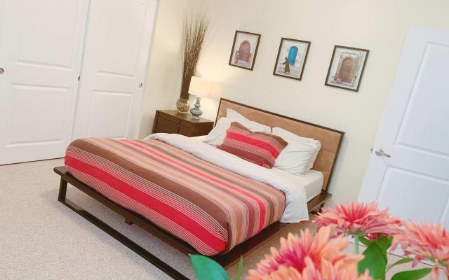 Spacious bright bedroom in a warm/ cozy home