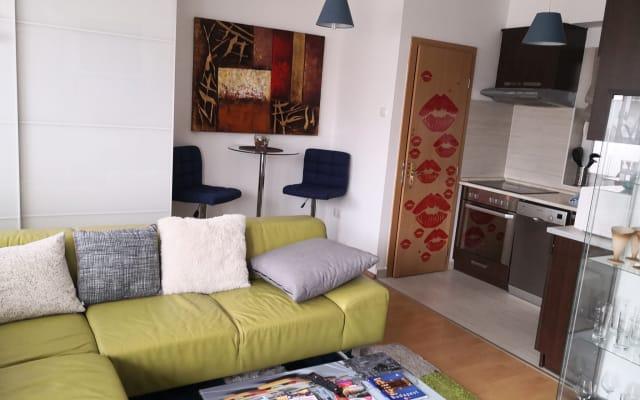 1,5 room apartment with terrace,near the park,near the Széchenyi Bath