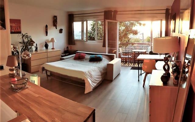 Appartement cosy / très lumineux, Balcon - Belle vue !