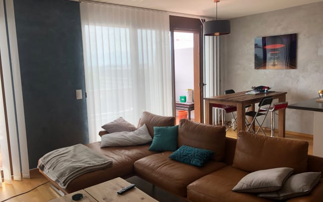 Large room in modern apartment