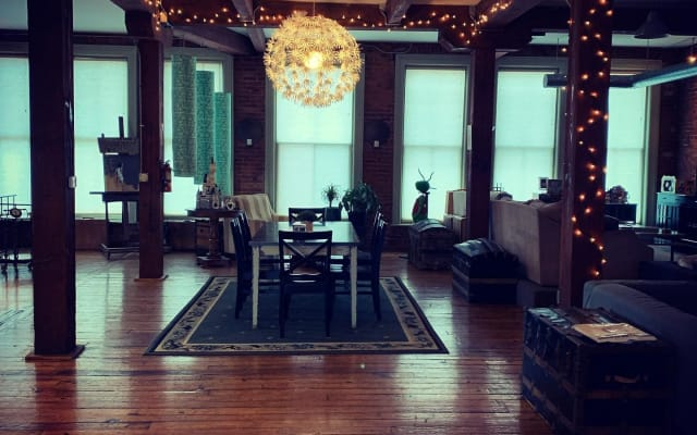 Private Downtown Cleveland Room in New York Style Loft