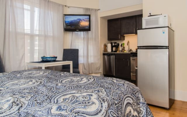 Furnished , Newly Renovated, Spacious Studio