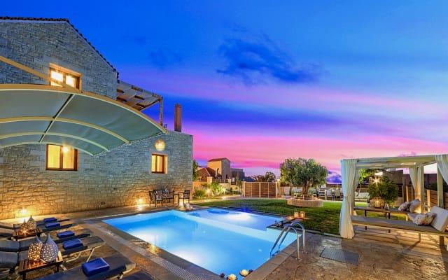 Cretan Sunrise Villa Heated Private Pool