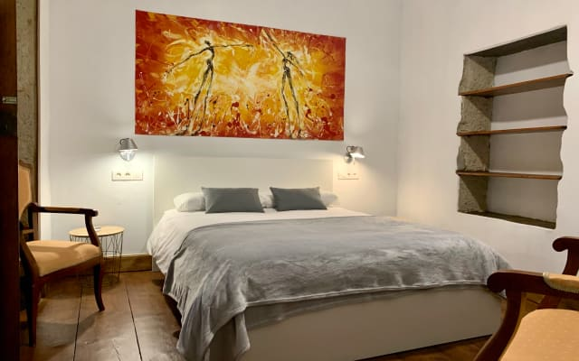 chambre double dans une maison typique des Canaries de la fin des années...