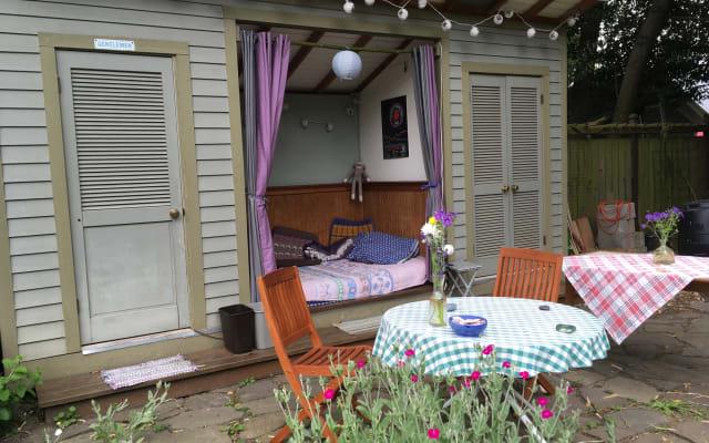 Cabana aconchegante no quintal para quem gosta de atividades ao ar...