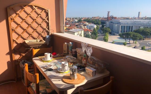 Appartamento grande in Rimini con vista panoramica mare e monte
