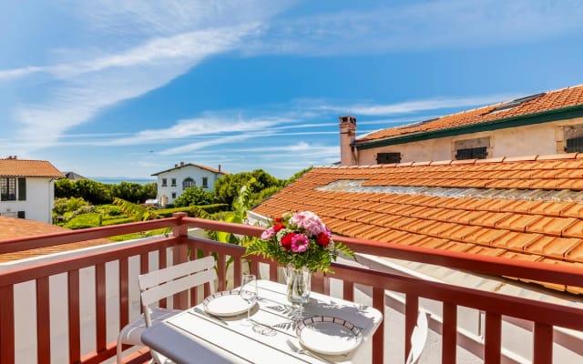 Biarritz Beaurivage/Beau T2/Terrasse vue sur l'océan