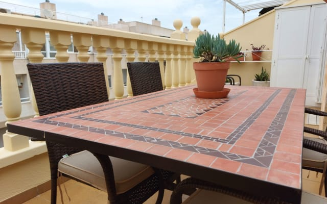 Cozy family penthouse for 3 / 4px with terrace and parking in Torrevie