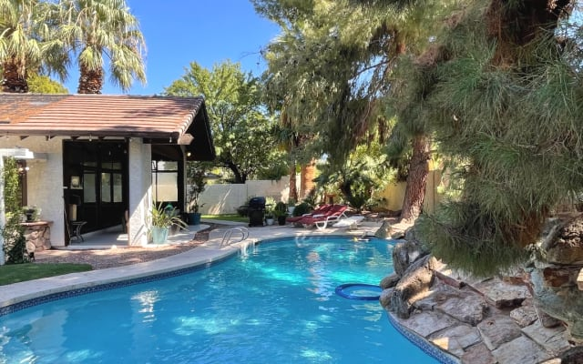 VINTAGE VEGAS HOME ON TREE LINED STREET - MUST LOVE DOGS (and one cat)