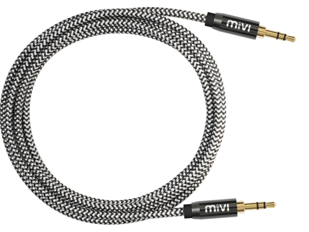 Tough Audio Cable With Gold Plated Connectors 18m Aux Mivi Excellence Micro Usb Charger 2 Meter 18 Meters Length