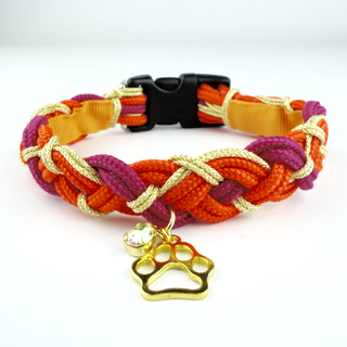 With A Twist – Collar for small dogs [in Red or Turquoise]