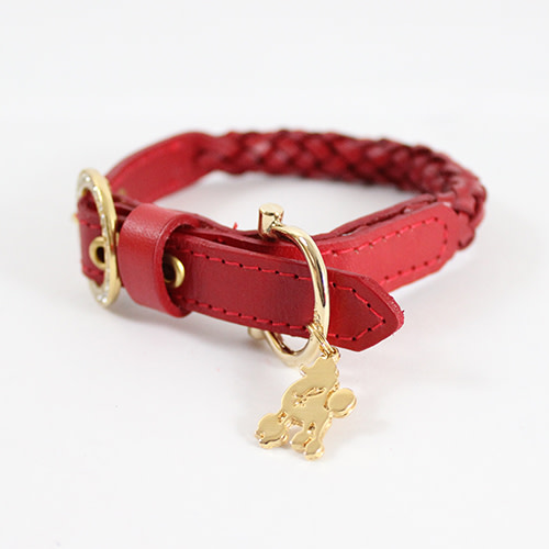 Kierry's Cyntia collar for dogs – red (ML)