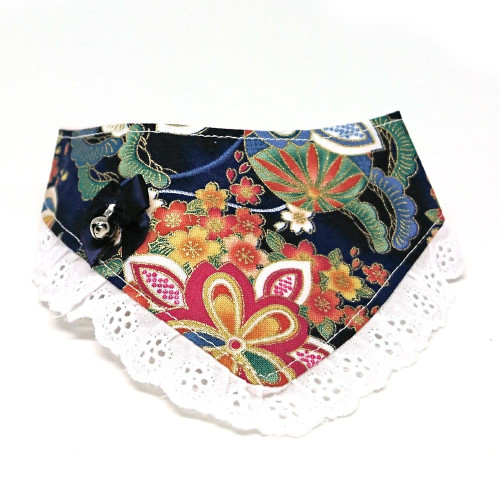 Midnight Blooms – Bandana for cats and small dogs