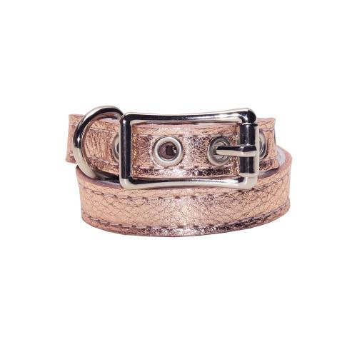 Buddy Belts Luxury ID Collars (Rose Gold)