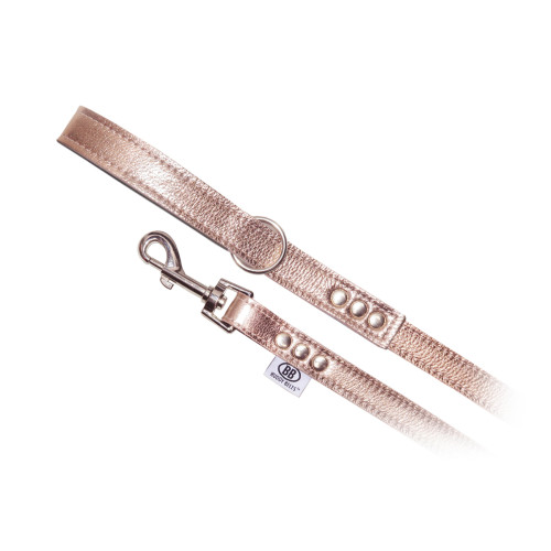 Buddy Belts Luxury Leather Leash (Rose Gold)