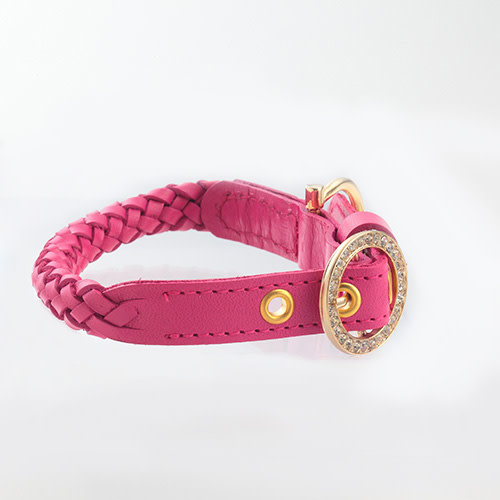 Kierry's Cyntia collar for dogs – shocking pink (M)