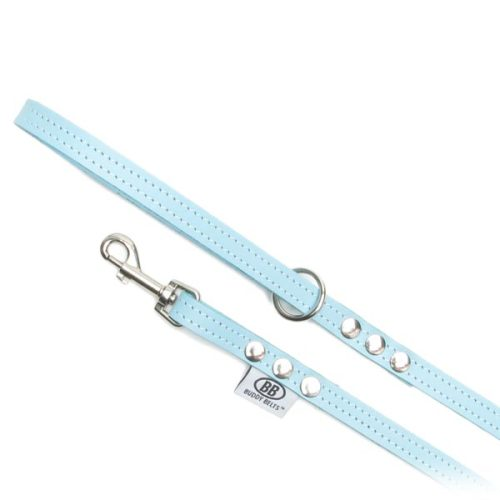 Buddy Belts Premium Leather Leash (Blue)