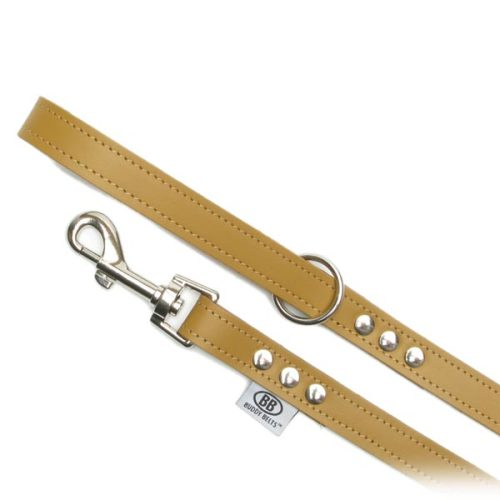 Buddy Belts Premium Leather Leash (Caramel)