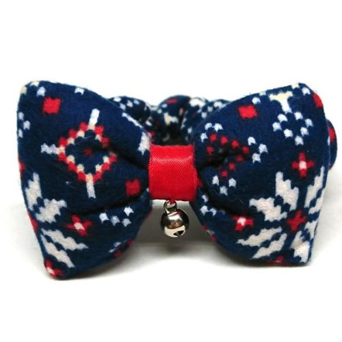 Nordic Snow decorative collar with bow for cats and small dogs