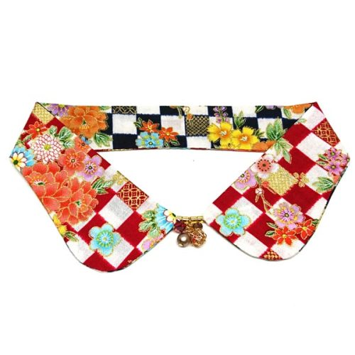 Floral Quilt Reversible Decorative Collar
