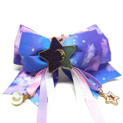 Fairy Dust Ribbon Bow Collar