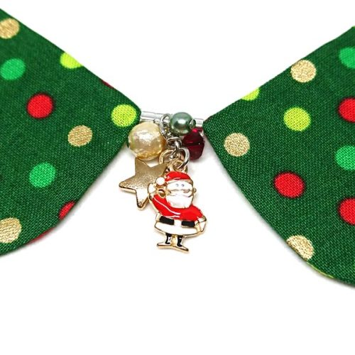 Christmas Dots Decorative Collar (Green)