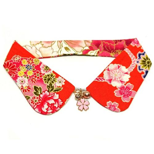 Floral Embroidery Reversible Decorative Collar