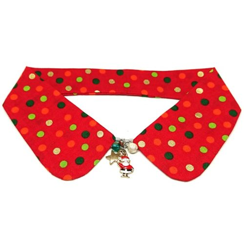 Christmas Dots Decorative Collar (Red)