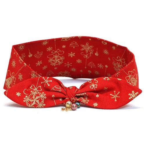Golden Christmas Bandana