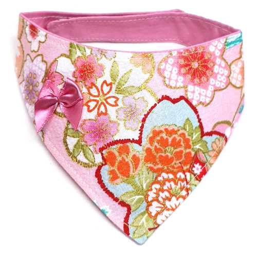 Spring Sakura In Pink – Bandana for cats and dogs (2 sizes)