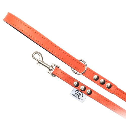 Buddy Belts Luxury Leather Leash (Sunset)