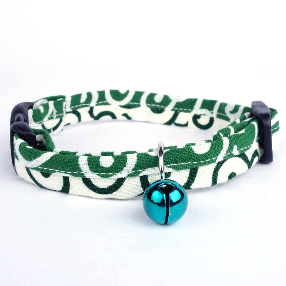 Marimo Cat Collar with blue bell