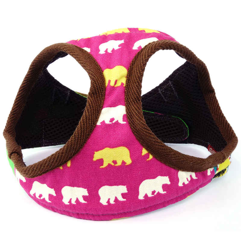 Hot Pink – Patchwork Dog Harness (M-size vest-style)