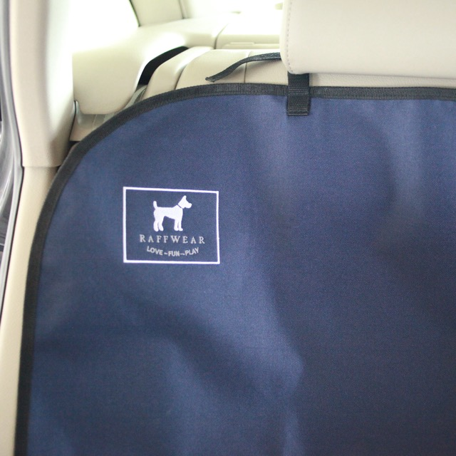 Raffwear rear seat cover in Ocean Blue