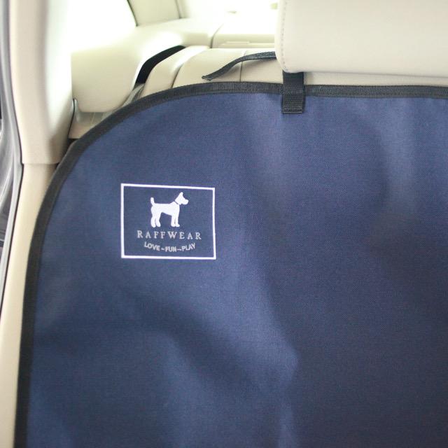 Raffwear rear seat cover in Ocean Blue