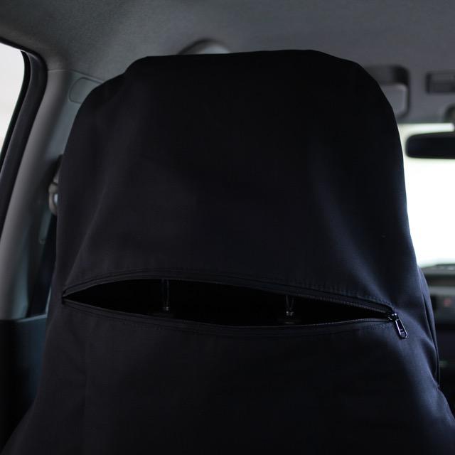 Raffwear front seat cover - rear zipper