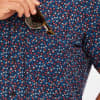 Leeward Short Sleeve - Red And BlueFloral, lifestyle/model photo