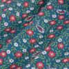Leeward Short Sleeve - Blue Floral Print, fabric swatch closeup
