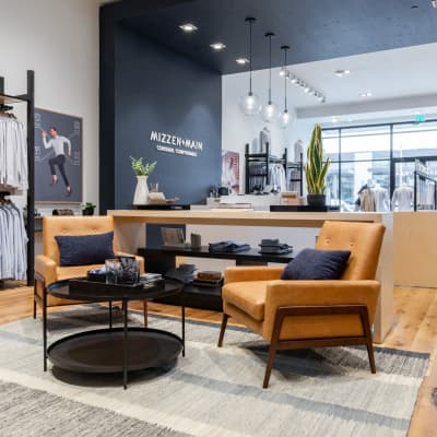 The lounge area of the store.