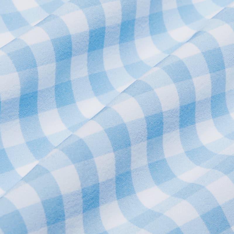 Leeward Boxer - Light Blue Gingham, fabric swatch closeup