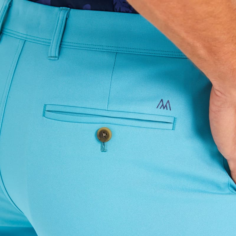 Baron Shorts - Sea Green Solid, lifestyle/model