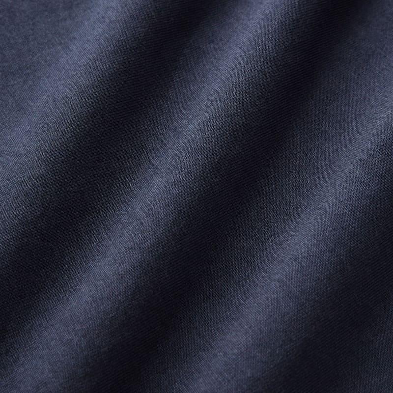 Wilson Long Sleeve Polo - Navy Solid, fabric swatch closeup